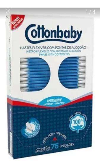 Rch-cotonetes - Cottonbaby- 900 Hastes Flexíveis-kit 12cx.
