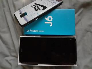 Samsung Galaxy J6 Con Audifonos Cargador Y Forros