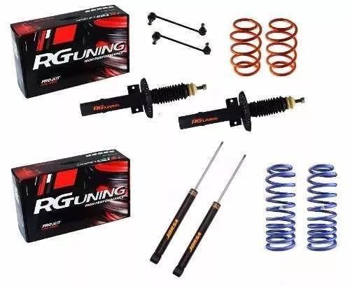 Kit Fox Amortiguadores Cortos Espirales Del 8 Cm Y Tras 5 Cm