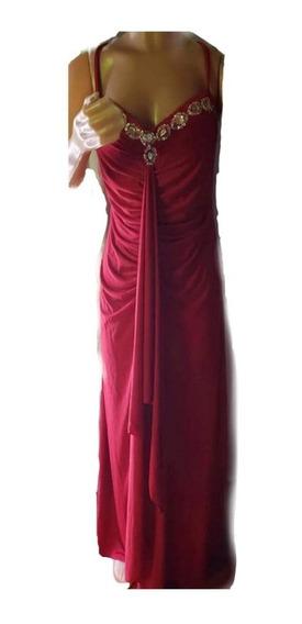 Vestido De Crepe Con Escote Corazon,