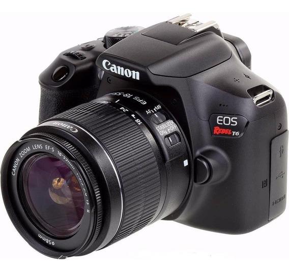 Câmera Canon Eos Rebel T6 Kit Lente Canon Efs 18-55mm Nfe