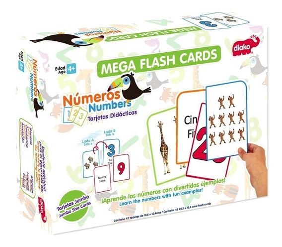 Mega Flash Cards Numeros O Letras Maestros Niños $349 C/u