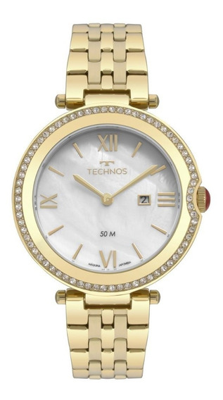 Relógio Feminino Technos St. Moritz Gl15at/4b 35mm Dourado