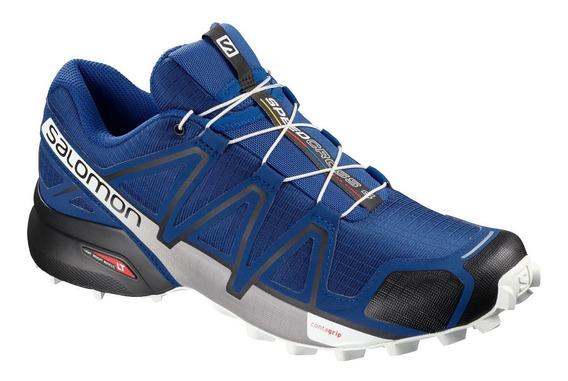 Zapatillas Salomon Speedcross 4 Outdoor Azu De Hombre