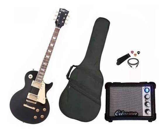 Combo Guitarra Eléctrica Les Paul + Amplificador Crimson