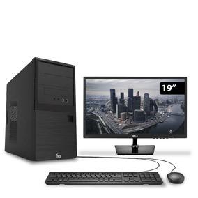 Computador Intel Core I5 7400 8gb 1tb Monitor 19.5 Lg 3green