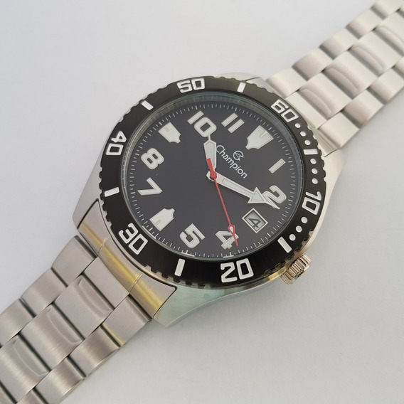 Relógio Champion Ca31364c Kit Pulseira Calendário