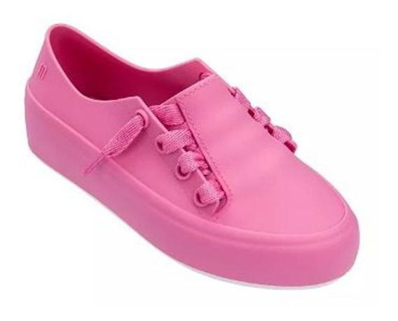 Tenis Infantil Melissa Mel Ulitsa Sneaker Rosa Branco 32539