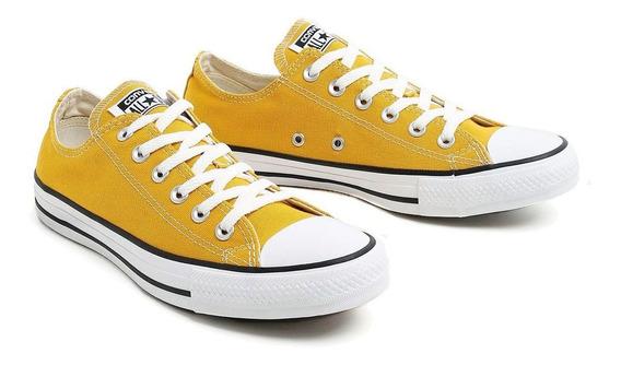 Tenis All Star Converse Chuck Taylor Lona Adulto Amarelo - Orignal