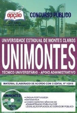 Apostila Unimontes 2019 - Técnico Universitário - Apoio Admi
