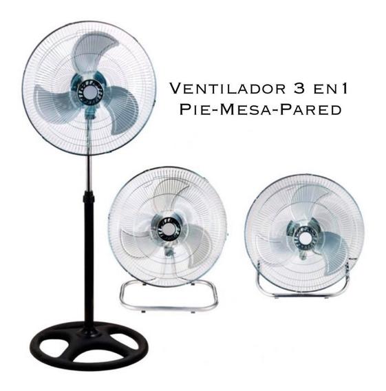 Ventilador 3 En 1 Pie Turbo Pared 10 Pulgadas Metal Color