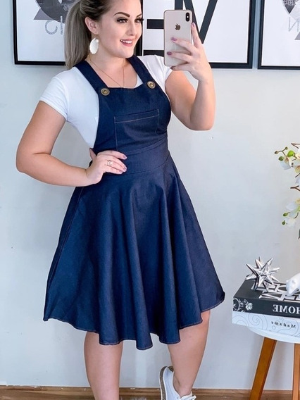 Vestido Salopet Plussize /jardineira/godê Vestido/oferta