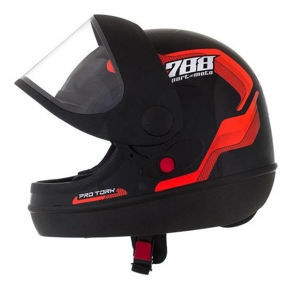 Capacete para moto integral Pro Tork Sport Moto 788 laranja tamanho 60