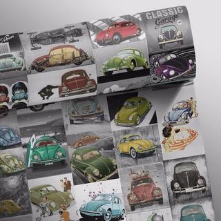 Papel De Parede Adesivo Vintage - Rolo De 0,58x3,00 M