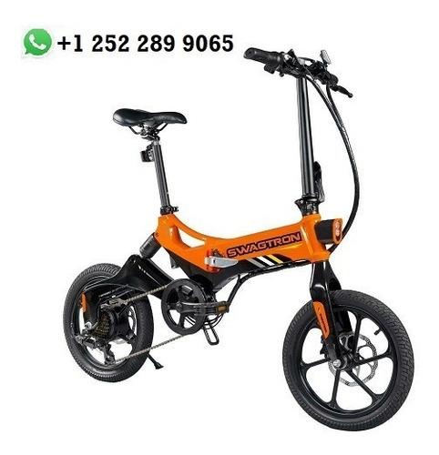 Imagen 1 de 3 de Swagtron Eb7 Plus Orange Electric Bike W/ 7 Speed Gear Shift