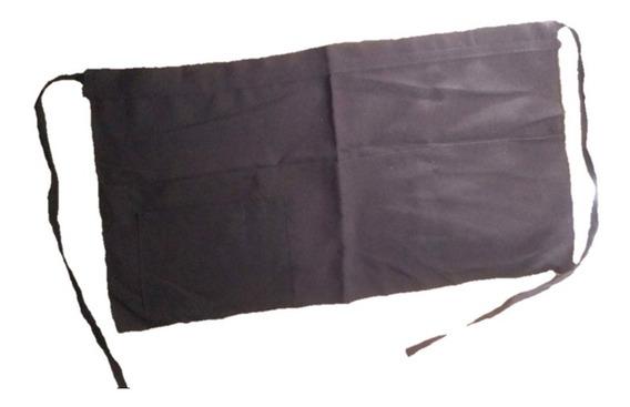 15 Medio Mandil Con Bolsas De Mesero Poliester Unisex