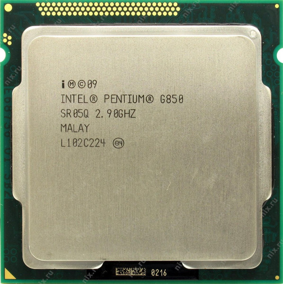Pentium Dual Core G850 Socket 1155 2.9 Ghz Intel + Cooler