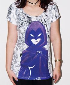 Blusa Ravena Raven - Teen Titans - Jovens Titãs - Dc Comics