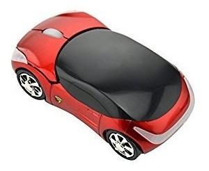 Mouse Inalambrico Optico 3d En Forma De Carro