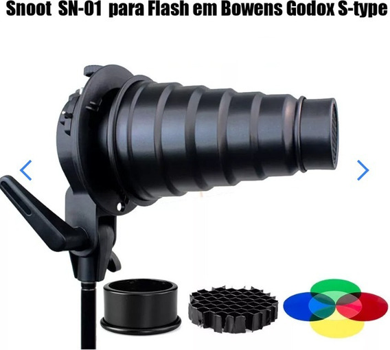 Snoot Sn-01 Para Flash Em Bowens Godox S-type