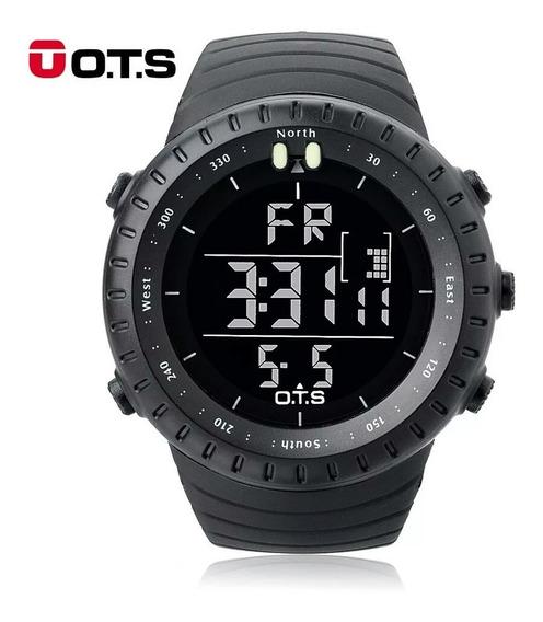 Relógio Digital Militar Ots 50mm Esportivo Prova D