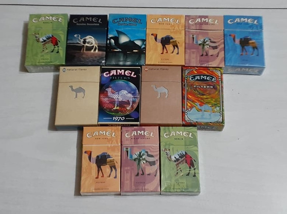 Lote De 13 Box Vacios Camel Limitados Y Raros De Coleccion