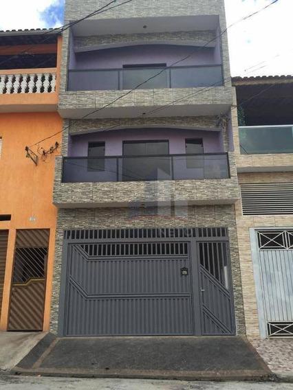 Sobrado Com 3 Dormitórios À Venda Por R$ 450.000 - Jardim Zaira - Mauá/sp - So0062