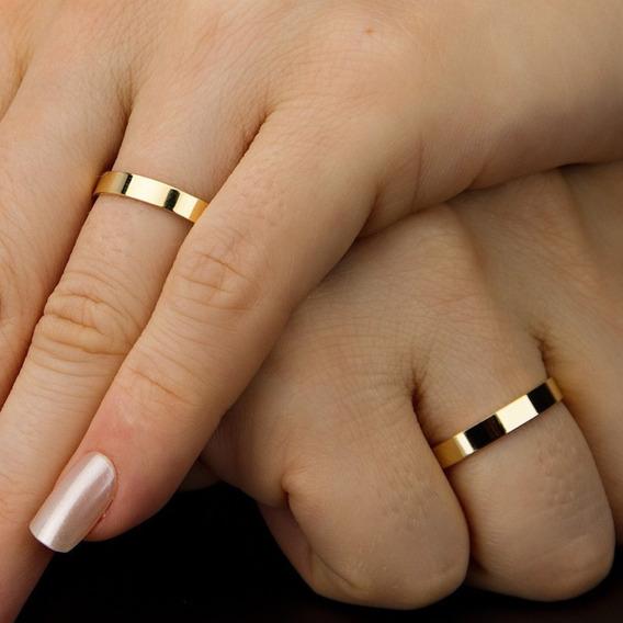 Aliança Fio Quadrado Ouro 18k Casamento