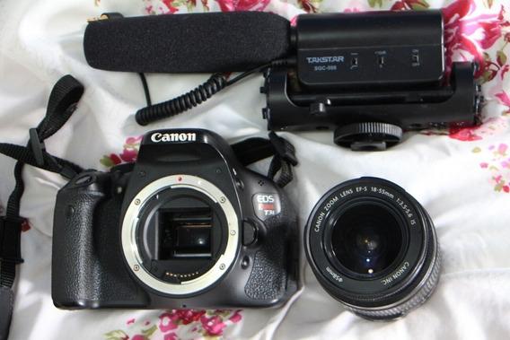 Camera Canon T3i Com Microfone E Lente 18-55mm