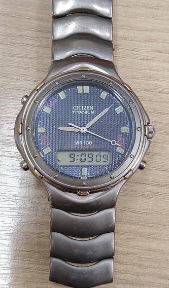 Relógio De Pulso Citizen C 201 Titanium Alarm Chronograph