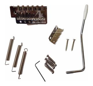Ponte Stratocaster Strato Com Tremolo Cromado Kit Completo