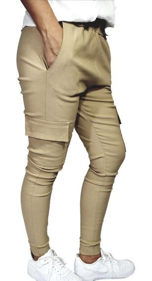 Pantalon Babucha Cargo De Bengalina. Del 36 Al 46.