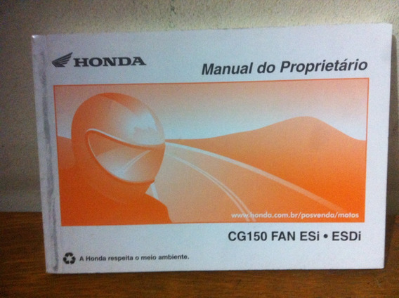 Manual Moto Honda Cg 150 Fan Esi Esdi 2010