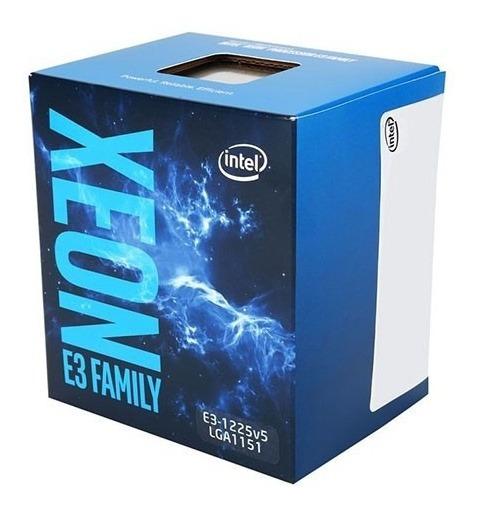 Processador Intel Lga 1151 Xeon E3-1225v5, 3.2ghz, 8mb, Q...