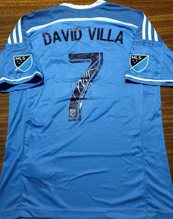Camisa Do New York City Autografada David Villa