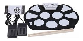 Bateria Eletronica Musical Portátil Roll Up Pedal E Baqueta