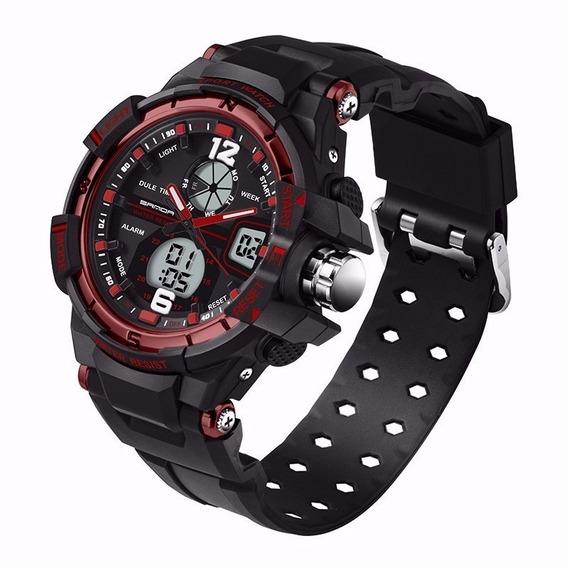 Relógio Esportivo Masculino Vermelho Led Digital Promoção