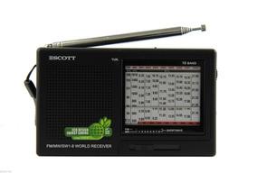 Rádio Receptor Portátil Scott Rx16 Am/fm/sw Ondas Curtas