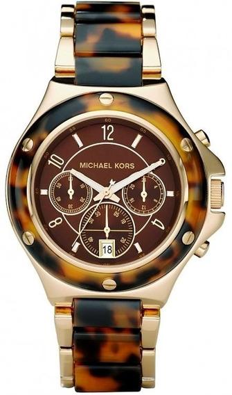 Relogio Michael Kors Mk5448 Dourado Marrom Novo Original