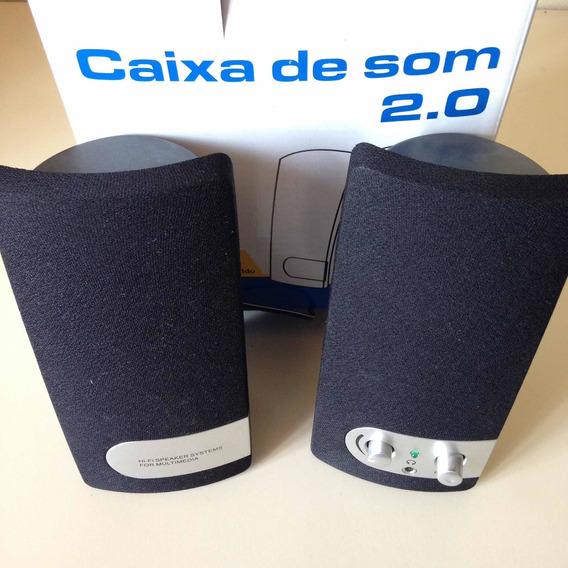 Caixa De Som 2.0 - Coletek - Para Pc