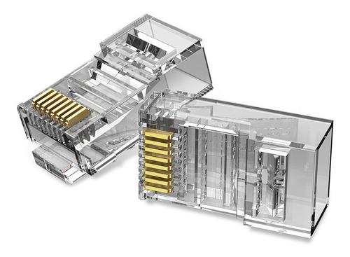 Imagen 1 de 9 de Ficha Plug Cat6 Rj45 Utp Modular X100 Cable De Red - Vention