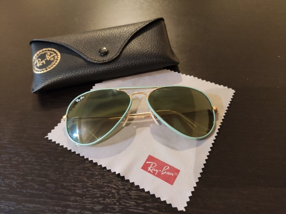 Gafas Ray Ban Aviator Full Color Verde Original