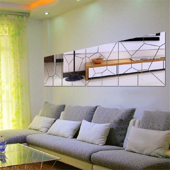 Espelho Decorativo Grande Acrílico 1,60m X 40cm Voronoi