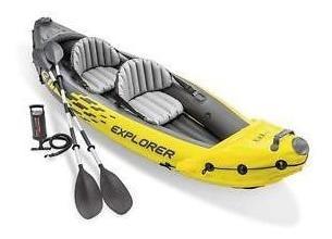 Intex 68307ep Explorer K2 Conjunto De Kayak Inflable 2 Perso