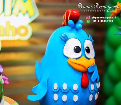 Locação Personagens3d Galinha Pintadinha - Bonecos Decoração