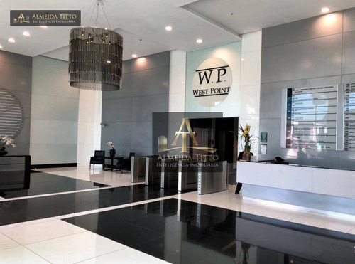 Excelente Sala Comercial Para Locação No Edifício West Point Em Alphaville/sp  Área Total 322 M², 10 Vagas De Estacionamento - Confira! - Sa0452