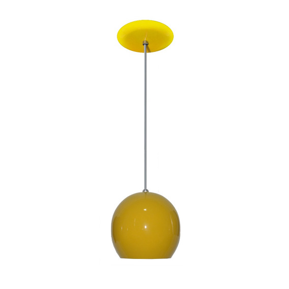 Luminaria Colorida Modelo Bolinha - 14cm X 15cm - Amarelo