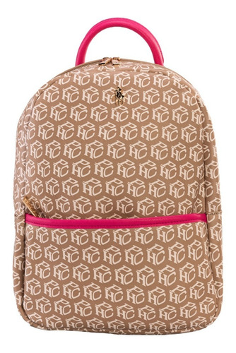 Imagen 1 de 7 de Backpack Hpc Polo Estampada Monograma