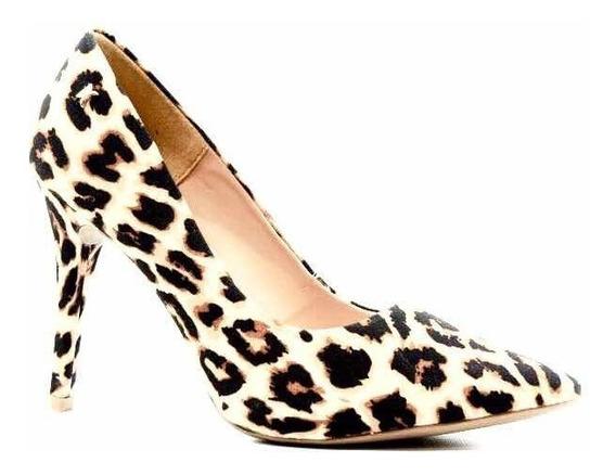 Zapatos Stilettos Di Cristalli Animal Print *** 3128332***