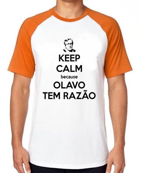 Camiseta Luxo Olavo De Carvalho Direita Bolsonaro Filosofo